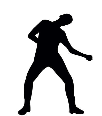 silhouette of a guy dancing a dance