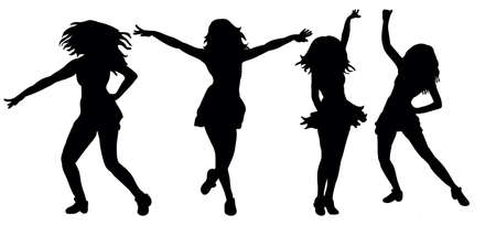 silhouette of dancing girl, collection