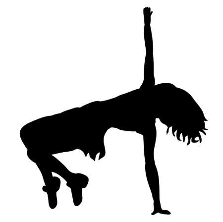 silhouette of a sexy girl dancing