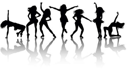 silhouette of a girl dancing big collection