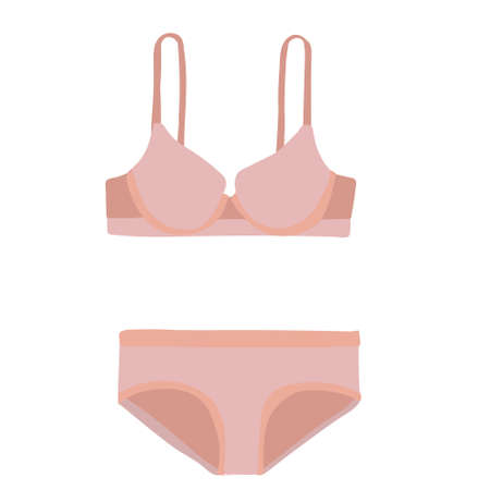 vector, isolated, lingerie, underpants and bra on a white background Illusztráció