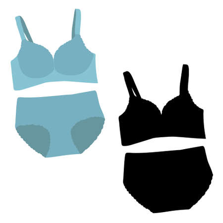 vector isolated lingerie sportswear with silhouette Illusztráció