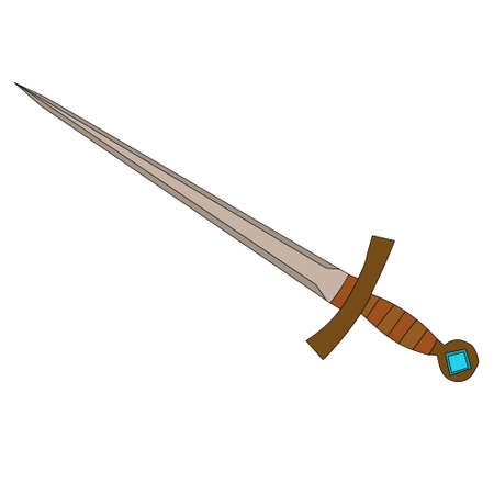 weapon sword, saber on white background