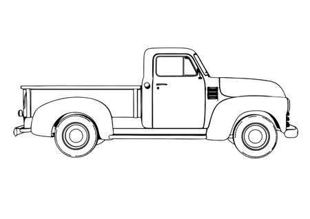 sketch pickup vector Ilustración de vector