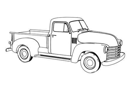 sketch sports retro car vector Ilustración de vector