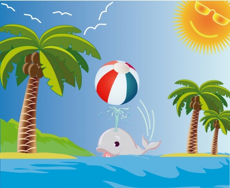 Summer beach illustration Vector