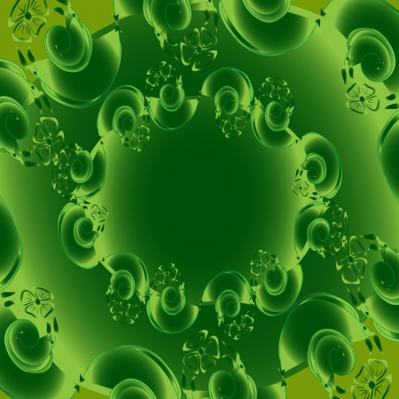 Abstract background with green flower Stock Vector - 14576921