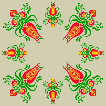 hungarian: Designs and floral with a drab background
