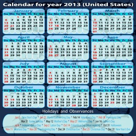 Calendar 2013 Stock Vector - 14576928