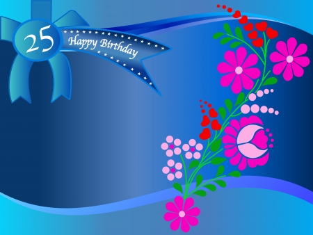 Congratulations on your 25th the occasion of your birthday Illustration