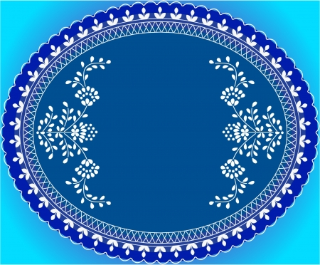 Inviting blue floral background Illustration