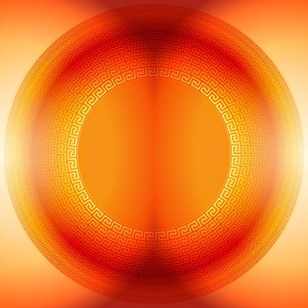 polychromatic: Abstraction orange background running dog pattern
