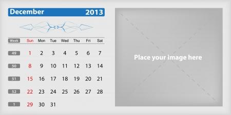 Calendar 2013 december Illustration