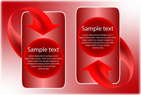 Next step arrows red background Illustration