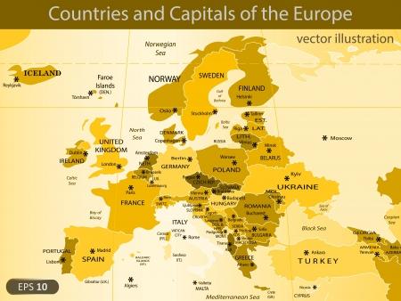 mapa de europa: ilustraci?n Vectores