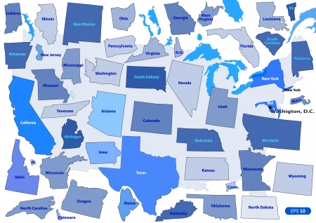 Map Of California Images  Stock Pictures Royalty Free Map Of - Horizontal us map