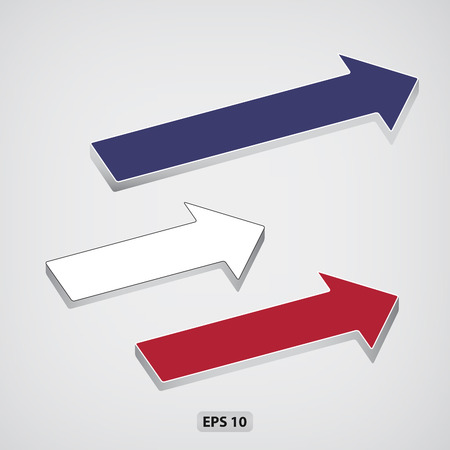 Next step arrows. EPS 10 vector