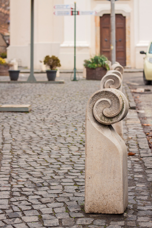 Stone Bollards Stock Photos And Images - 123RF