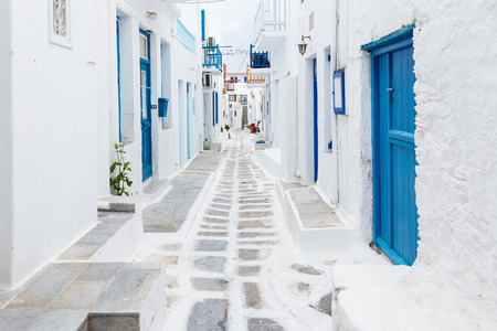 greece: Mykonos streetview Greece