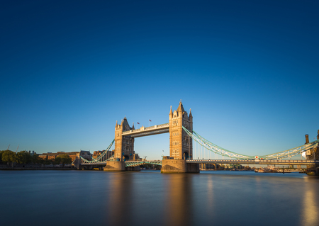 Tower Bridge in the sunset with clear blue sky, London, UK Reklamní fotografie