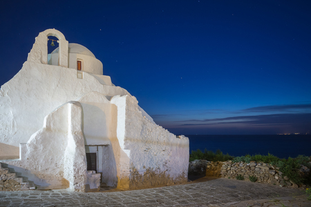 Church of Paraportiani at blue hour, Mykonos, Greece