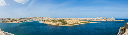 Panoramic shot about Malta skyline with Fort Manoel at daylight - Malta