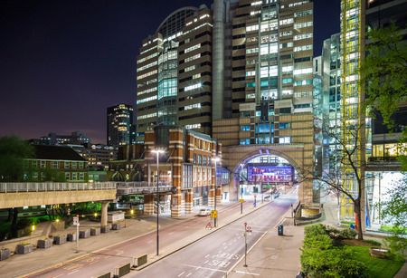 The wall of London and the Barbican area by night, London, UK Reklamní fotografie