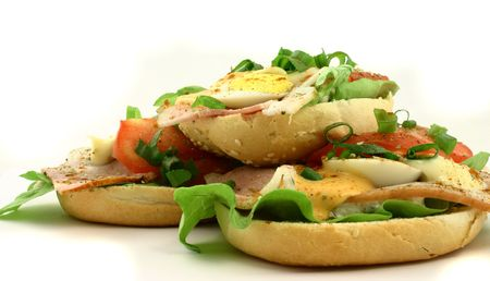 plateful: Sandwiches lying one at the top of another