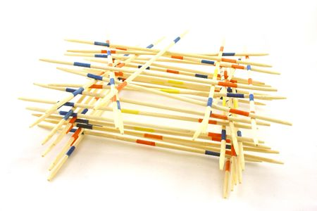 tremble: small tower built of sticks