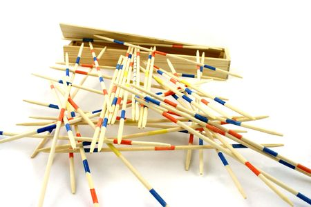 tremble: spilled sticks one on another