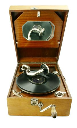 sonic: Original old gramophone playing record