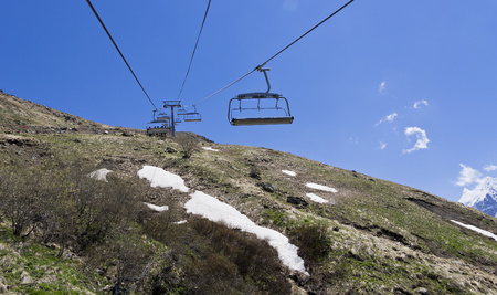 chairlift: Chairlift in Dombai.The Northern Caucasus.