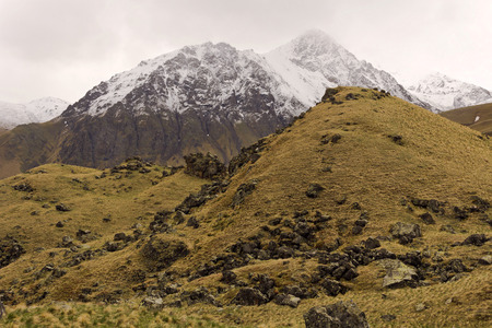 igneous: Velvety hills in the tract Dzhily-Su.The Elbrus region.