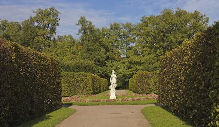 apollo: Statue of Apollo in alley the regular Park.Tsarskoye Selo.Russia.