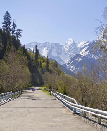 sukhumi: The military - Sukhumi road leading to Abkhazia.The Caucasus.Russia.