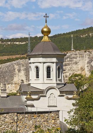 orthodox church: The Orthodox Church in male Holy Dormition monastery.Bakhchisarai.Crimea.