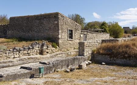 House Chal Boria (gray wolf, XVIII century) in Chufut-Kale. Crimea.