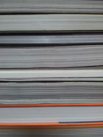 printed matter: A stack of books