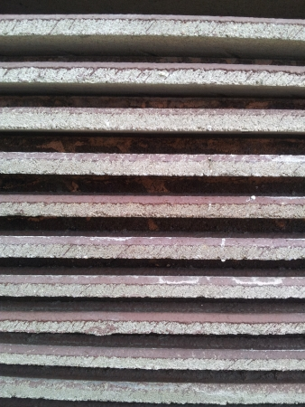 tile: Stacked roofing tiles Stock Photo