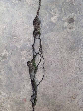 imperfection: Crack on concrete surface vertical