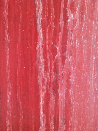 imperfection: Water stains on red metal door Stock Photo