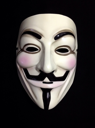 guy fawkes: Front profile of Guy Fawkes mask
