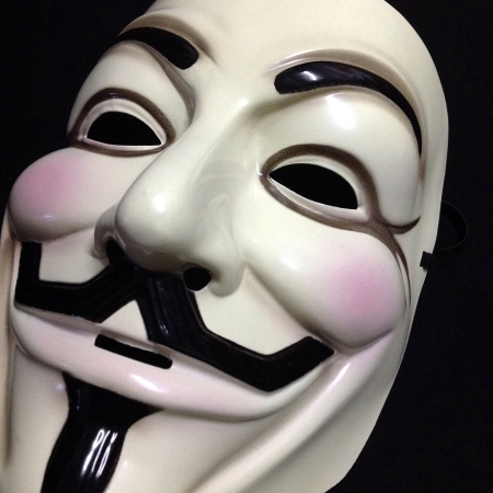 guy fawkes mask: Guy Fawkes mask on black