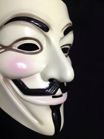 guy fawkes: Guy Fawkes mask on black