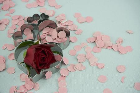 hearts with confetti Stock fotó