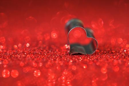 heart on red background Stok Fotoğraf