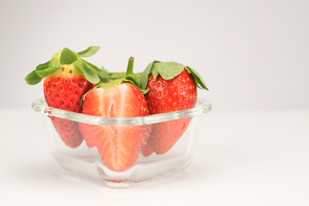 Strawberries in a glass 스톡 콘텐츠