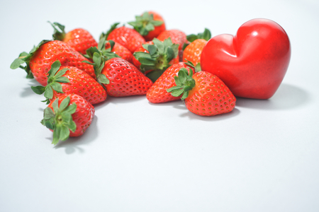 strawberries with heart