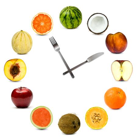 白で隔離異なる組成結実の作った時計
