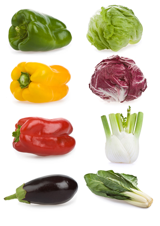 healty: healty vegetable composition set isolated on white